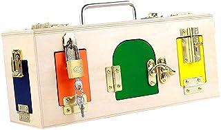 Baosity Wooden Montessori Lock Box / 10 Doors & Locks Kids Practical Life Toy Gift