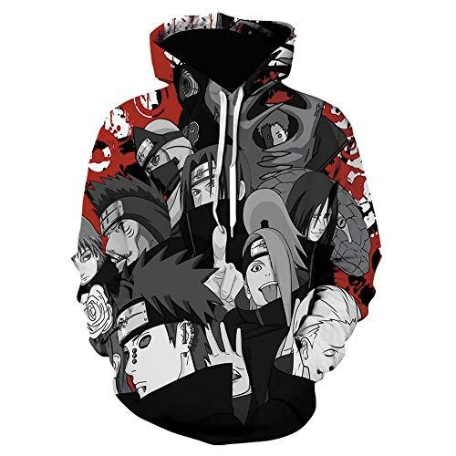 WANGZIZI Anime Naruto Hoodies 3D Print Boy Men Women Streetwear Uchiha Sasuke Kakashi Hoodie Niños Hiphop Sweatshirt Clothes-Dh816314S_S