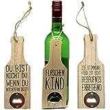 Bada Bing 3er Set Flaschenöffner Holz Mit Lustigen Sprüchen Bieröffner Öffner Geschenk Mitbringsel Geburtstag Party 99