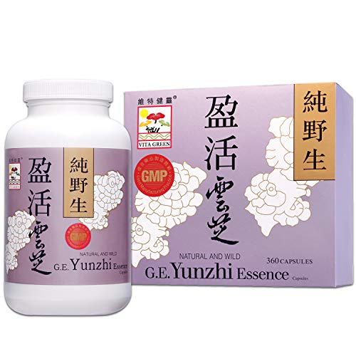 Turkey Tail Mushroom Fungus Yunzhi Essence, Wild Natural Immune Defense Energy Booster, Liver Cellular Health Support, High Antioxidant Recovery and Digestive Balance - 360 Capsules