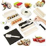 AUXSOUL 10 Piezas DIY Set Sushi Kit, Molde para Rollo de Arroz para Hacer Sushi, Juego de Sushi Casero para Principiantes, Juego de Sushi de Forma Unica