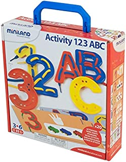 Miniland Activity 123 Abc Suitcase [Multicolor, DML-31867]