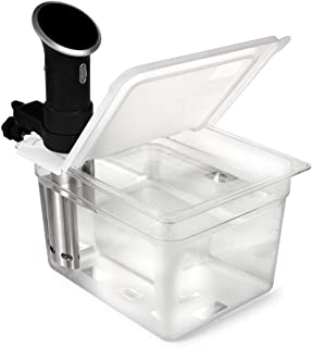EVERIE Sous Vide Container 12 Quart EVC-12 with Collapsible Hinge Lid Compatible with Anova Cookers (Corner Mount) (Does N...