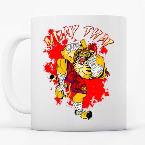 Muay Thai Tiger Tazas Cerámica