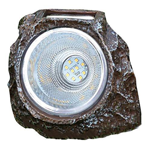 SODIAL 1 PZ Solare 10 LED Simula Lampada nel Pietra Resina Lampada Solare un Luce Calda per Cortile Parco Decorazione Del Giardino Decorazione Del Giardino Lampada Paesaggio