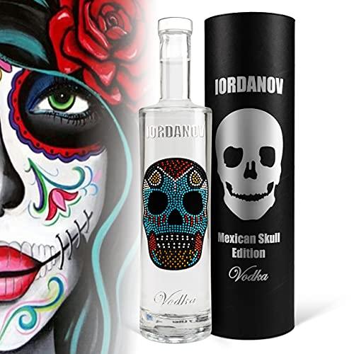 Iordanov Vodka (0.7 l)  Mexican Skull   Luxus-Wodka in der Geschenkbox Chrome   mit Geschenkkarte! Edel-Vodka zum Genießen und Verschenken!