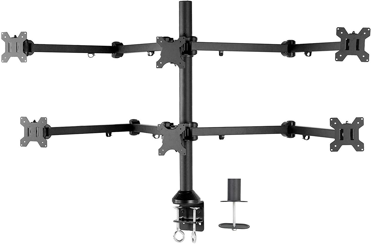 Steel Max 80% OFF Hex Monitor Desk Mount Adjustable Max 78% OFF Stand Screens 6 Six