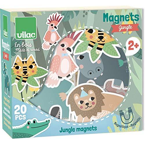 Vilac- Magnets Jungle Michelle Carlslund Bicicletas y monopatines para Dedos, Multicolor (8546) (Juguete)