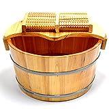 Liღseek Pie de Madera Maciza Cubos de baño Pies...
