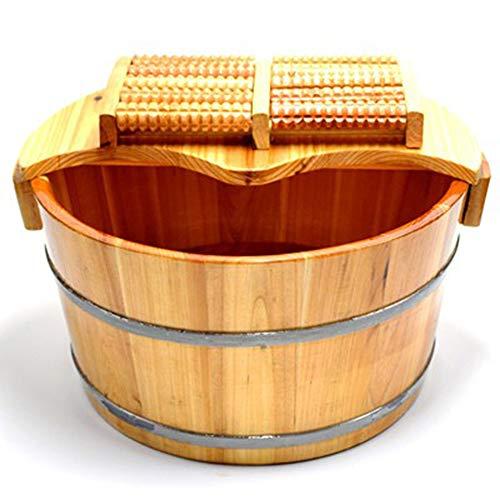 Liღseek Pie de Madera Maciza Cubos de baño Pies Pedicura Lavabo Sauna Baño Barril Pie de bañera sólido Niños Adultos Inicio SPA Hogar Relajación Pie Cubo de remojo