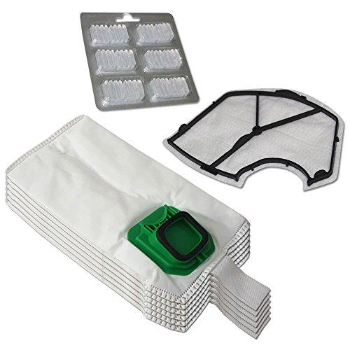 Filterprofi - Kit de 6 bolsas (microfibra) + 6 ambientadores