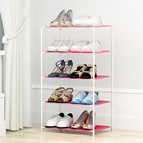 Chaussure Simple Shoe Rack Multi-étages Assemblée De en Plastique Multi-Fonctionnelle Collection De Simple Modern Economique Small Shoe Rack (Taille : 47 * 37 * 84cm)