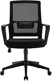 Desk Chair Office Chair for Home Height Adjustable Mid Back Mesh Computer Chair with Lumbar Support Mesh Swivel Computer O...