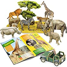 CubicFun National Geographic 3D Kids Puzzles Animal Model Kits Toys with Booklet for Children Teens and Adults, African Wildlife