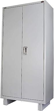 EFC : Alloy Steel Office Almirah Wardrobe (Size-78x36x19 Inches, Grey)