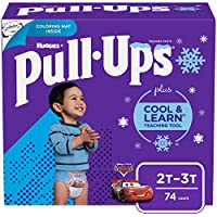Pull-Ups Cool & Learn Training Pants for Boys, 2T-3T, 74 Count by Pull-Ups