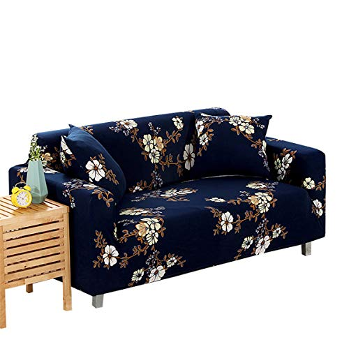 Yunchengyunxiangtong Stretch Couch Four Seasons Universal-Sofakissen 卍 Can Sofa Handtuch Full Cover Sofa Cover All-Inclusive-Sofa-Abdeckung (Size : Dark Blue Three)