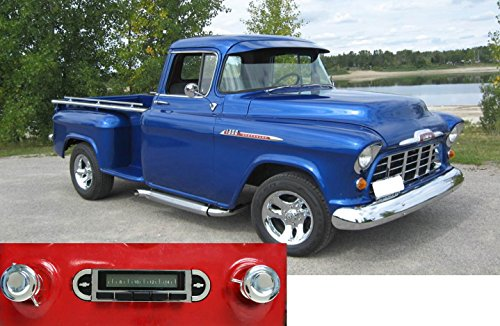 Custom Autosound Stereo compatible with 1955-1959 Chevrolet Truck, USA-630 II High Power 300 watt AM FM Car Stereo/Radio with auxiliary input