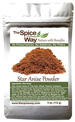The Spice Way Star Anise - Ground ( 4 oz ) great for baking and tea