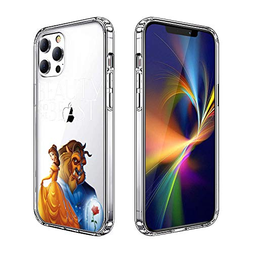 Phone Case for iPhone 12 Pro Max Case, Clear Phone Case Individualized Design Cover Case (Beauty-and-The-Beast)