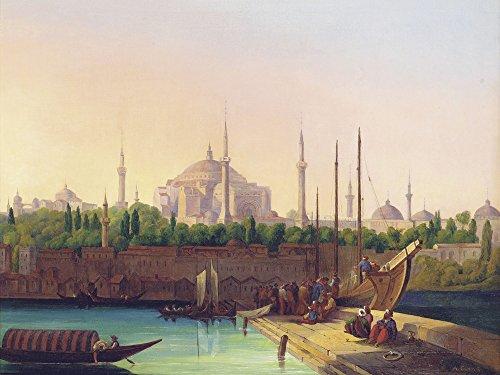 Artland Alte Meister Premium Wandbild August Finke Bilder Poster 45 x 60 cm Hagia SophiaIstanbul Kunstdruck Wandposter Orientalismus R1KU