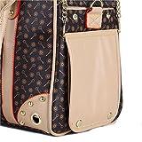 Transporttasche Hundetasche Katzentasche Tragetasche für Hunde bis 5kg Tragebox Hundebox 35*27*20cm (braun) - 6