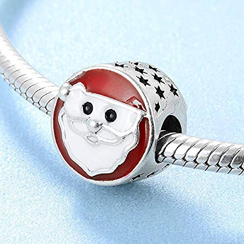 Women's Bead Charms,925 Sterling Silver Santa Claus Beads Women Accessories Fit Original Charm Bracelet Jewelry