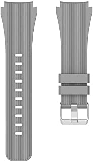 iloft 22mm Sport Silicone Watch Band Wrist Strap Compatible for Samsung Galaxy Watch 46mm Gear S3 Frontier/Classic Gear 2 R380 (Grey)