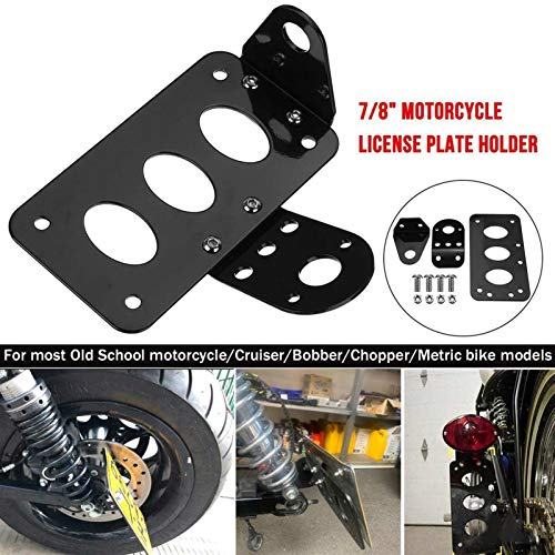Universal Motorcycle Side Mounted Tail Light Frame License Plate Bracket Retro Metal Motorcycle Accessories