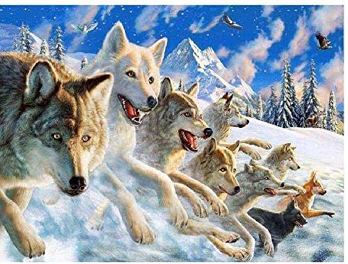 TTmom Adult Puzzle Jigsaw Wolf Group Leisure Time Home Decoration Creative Art Wooden Jigsaw Puzzle 1000 Pieces