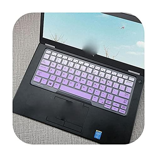 Para 14 pulgadas Dell Latitude 5450 3340 7480 7490 5490 5491 E5450 E5470 E5490 E7450 E7490 cubierta del teclado del ordenador portátil protector piel degradado púrpura