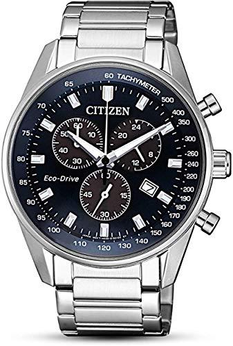 Citizen Orologio Cronografo Quarzo Uomo con Cinturino in Acciaio Inox AT2390-82L