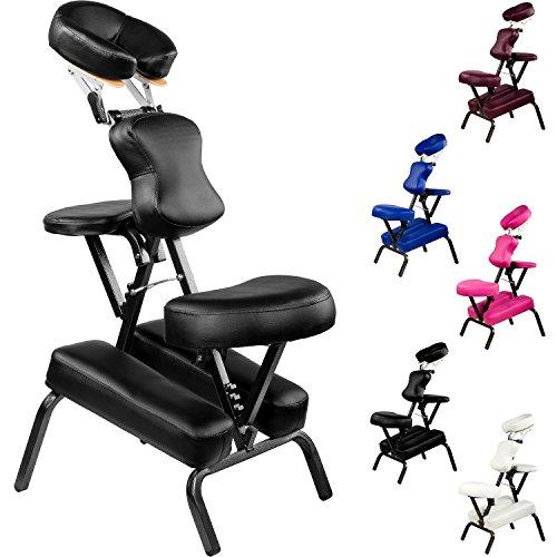 Movit® Klappbarer Massagestuhl/Tattoo Stuhl inkl. Tasche, belastbar bis 200 kg, Farbwahl, schadstoffgeprüft, Farbe schwarz