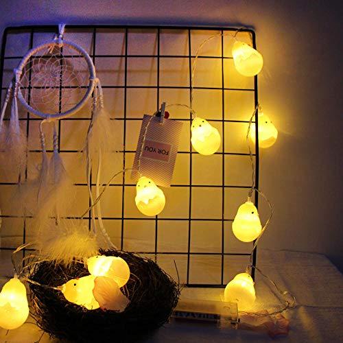 Powzz ornamento llevó la luz de la cadena pequeña amarilla de pollo de Navidad cáscara de huevo de pollo Halloween eclosión de la luz del pollo-3 metros 20 luces usb