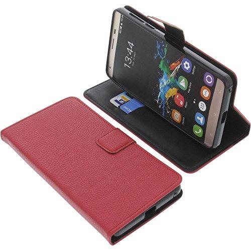 foto-kontor Tasche für Oukitel K6000 Pro Book Style rot Schutz Hülle Buch