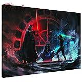 Diamante Pintura Star Wars Bordado Cuadrado Completo Diamante Punto De Cruz Rhinestone Mosaico Pintura Decoración Regalo 5d Diy redondo40x50cm