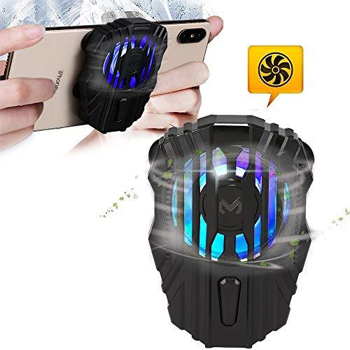 picK-me Handy-Kühler, Handy-Kühler zum Spielen von Videos Videos ansehen, 3-Gang-Windgeschwindigkeit, LED-Licht, Kühler-Controller Kompatibel für universelles iPhone/Android-Smartphone