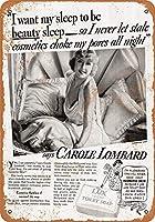 ブリキ看板1935キャロルロンバードラックストイレ石鹸コレクタブルウォールアートブリキ看板