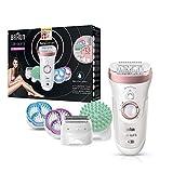Braun Silk-épil 9 9/990 SkinSpa SensoSmart Epilierer, für Damen mit Andruckkontrolle, Wet&Dry...