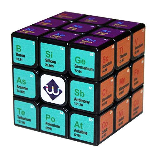 Ysss Cubo de Tercer Orden Herramientas de Aprendizaje para niños Adultos Juguete Educativo Regalo Cubo de química,Negro