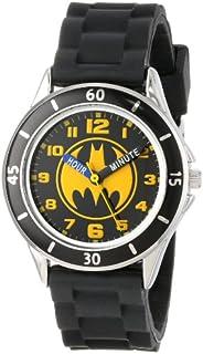 Batman Kids' Analog Watch with Silver-Tone Casing, Black...