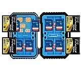iLifeTech - Custodia impermeabile per scheda di memoria SD, 28 slot per Micro SDHC SDXC TF SIM CF