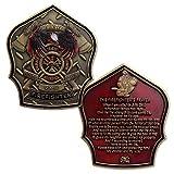 Firefighter Prayer Challenge Coin Fireman Gifts