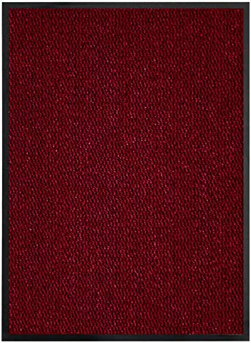 BHG Dirt catcher super absorbent pad for home office and kitchen non-slip,Wine Red/Black,60_x_80_cm