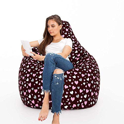 Aart Store Digital Cotton Canvas Printed Filled Bean Bag XXXL-for Living Room/Home/Decor