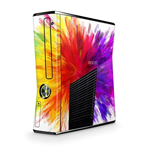 Skins4u Design modding Aufkleber Vinyl Skin Klebe Folie Skins Schutzfolie kompatibel mit Xbox 360 Slim Color Diffusion
