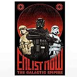 Star Wars Empire Propaganda Enlist Now The Galactic Empire artwork Poster (XL - 24 x 36 icnh (61 x 91 cm))