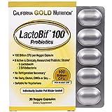 California Gold Nutrition, LactoBif Probiotics, 100 Billion CFU, 30 Veggie Caps, Milk-Free, Egg-Free, Fish Free, Gluten-Free, Peanut Free, Treenut Free, Shellfish Free, Soy-Free, Vegetarian, CGN