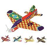 Beetest Avion Polystyrene Planeur, 30 PCS Main-Lancer DIY 360 Degrés Rond-Point Mousse Avion Avion Planeur Avions Modèle Jouets pour Enfants Enfants Cadeaux Récompenses Prix Aléatoire