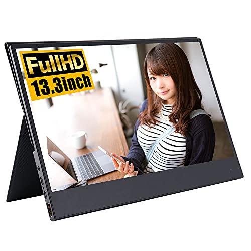 モバイルモニター 高画質フルHD タッチ機能 13.3インチ 3年保証 WT-133BT-BK 安心の日本企業 WINTEN USB Type-C HDMI(ミニ) タッチパネル モバイルディスプレイ ゲーミングモニター ポータブルディスプレイ デュアルディスプレイ ポータブルモニター IPSパネル
